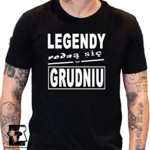 Legenda urodzona w grudniu męska koszulka prezent na urodziny