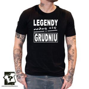 Legendy rodzą się w grudniu męska koszulka z nadrukiem prezent na urodziny