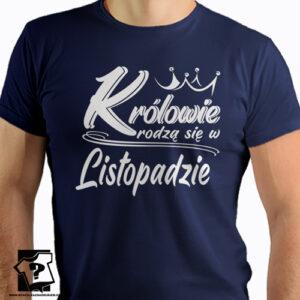 Śmieszny prezent dla chłopaka królowie rodzą się w listopadzie koszulki z nadrukiem