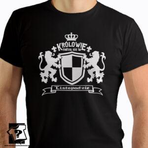 Śmieszny prezent dla chłopaka królowie rodzą się w listopadzie t-shirt