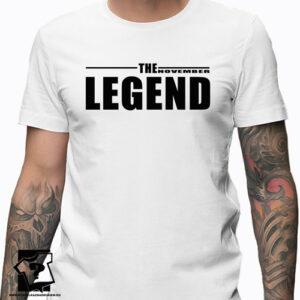The November legend koszulka dla chłopaka prezent
