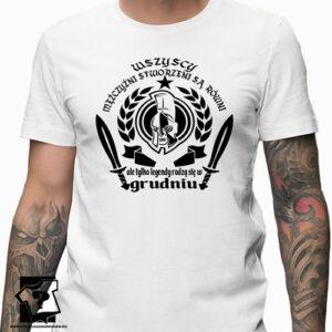 Koszulki urodzinowe na grudzień koszulka z nadrukiem na urodziny