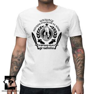 Ale tylko legendy rodzą się w grudniu męska koszulka z nadrukiem prezent na urodziny