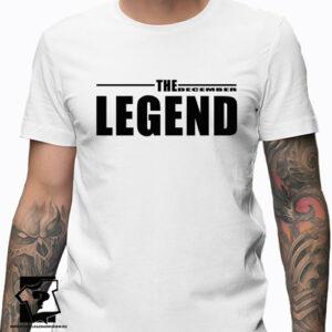 Koszulka z nadrukiem dla chłopaka prezent na 20 30 40 50 urodziny The December legend