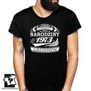 Narodziny legendy 1973 męska koszulka z nadrukiem prezent na urodziny