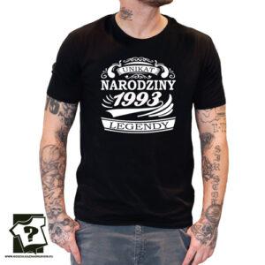 Narodziny legendy 1993 męska koszulka z nadrukiem prezent na urodziny