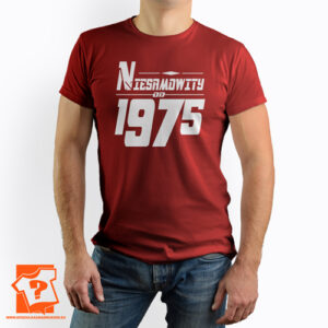 Niesamowity od 1975 męska koszulka z nadrukiem prezent na urodziny