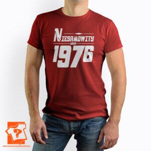 Niesamowity od 1976 męska koszulka z nadrukiem prezent na urodziny