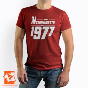 Niesamowity od 1977 męska koszulka z nadrukiem prezent na urodziny
