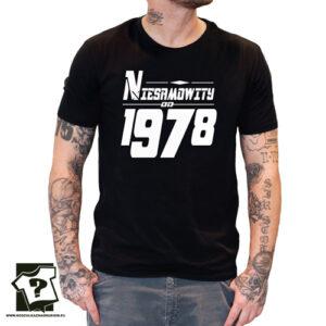 Niesamowity od 1978 męska koszulka z nadrukiem prezent na urodziny