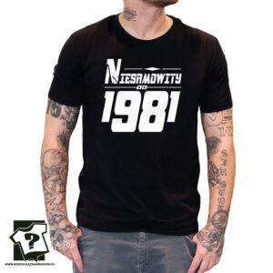 Niesamowity od 1981 męska koszulka z nadrukiem prezent na urodziny