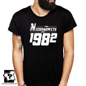 Niesamowity od 1982 męska koszulka z nadrukiem prezent na urodziny