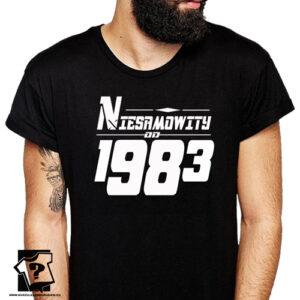 Niesamowity od 1983 męska koszulka z nadrukiem prezent na urodziny dla chłopaka