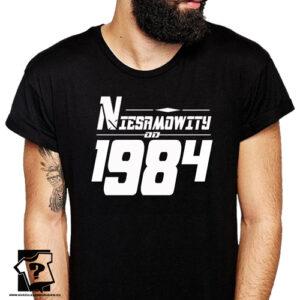 Niesamowity od 1984 męska koszulka z nadrukiem prezent na urodziny dla chłopaka