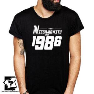 Niesamowity od 1986 męska koszulka z nadrukiem prezent na urodziny