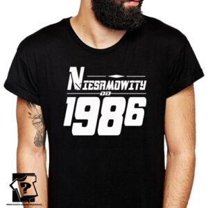 Niesamowity od 1986 męska koszulka z nadrukiem prezent na urodziny dla chłopaka