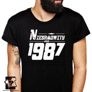 Niesamowity od 1987 męska koszulka z nadrukiem prezent na urodziny dla chłopaka