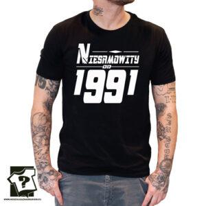 Niesamowity od 1991 męska koszulka z nadrukiem prezent na urodziny