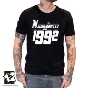 Niesamowity od 1992 męska koszulka z nadrukiem prezent na urodziny