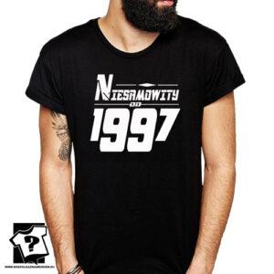 Niesamowity od 1997 męska koszulka z nadrukiem prezent na urodziny