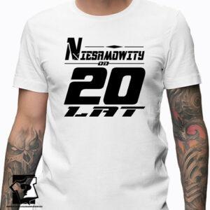 Niesamowity od 20 lat męska koszulka z nadrukiem prezent na urodziny dla chłopaka
