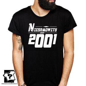 Niesamowity od 2001 męska koszulka z nadrukiem prezent na urodziny