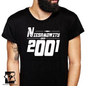 Niesamowity od 2001 męska koszulka z nadrukiem prezent na urodziny dla chłopaka