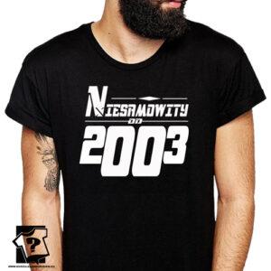 Niesamowity od 2003 męska koszulka z nadrukiem prezent na urodziny