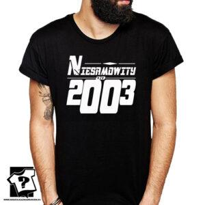 Niesamowity od 2003 męska koszulka z nadrukiem prezent na urodziny dla chłopaka