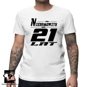 Niesamowity od 21 lat męska koszulka z nadrukiem prezent na urodziny
