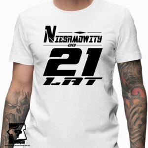 Niesamowity od 21 lat męska koszulka z nadrukiem prezent na urodziny dla chłopaka