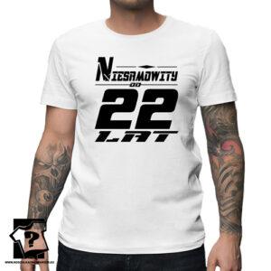 Niesamowity od 22 lat męska koszulka z nadrukiem prezent na urodziny