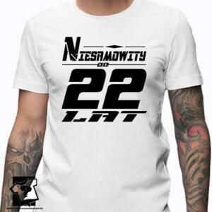Niesamowity od 22 lat męska koszulka z nadrukiem prezent na urodziny dla chłopaka