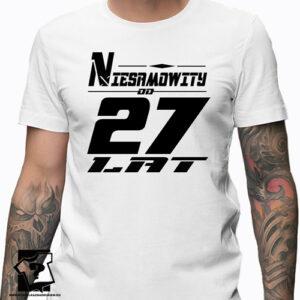 Niesamowity od 27 lat męska koszulka z nadrukiem prezent na urodziny dla chłopaka