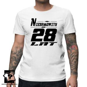 Niesamowity od 28 lat męska koszulka z nadrukiem prezent na urodziny