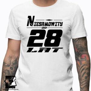Niesamowity od 28 lat męska koszulka z nadrukiem prezent na urodziny dla chłopaka