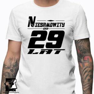 Niesamowity od 29 lat męska koszulka z nadrukiem prezent na urodziny dla chłopaka