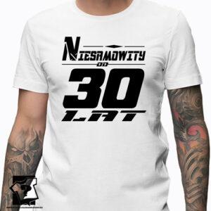 Niesamowity od 30 lat męska koszulka z nadrukiem prezent na urodziny dla chłopaka